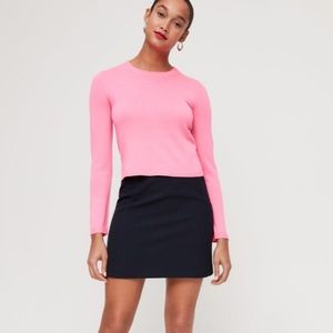 Babaton Nathaniel cropped sweater in neon pink